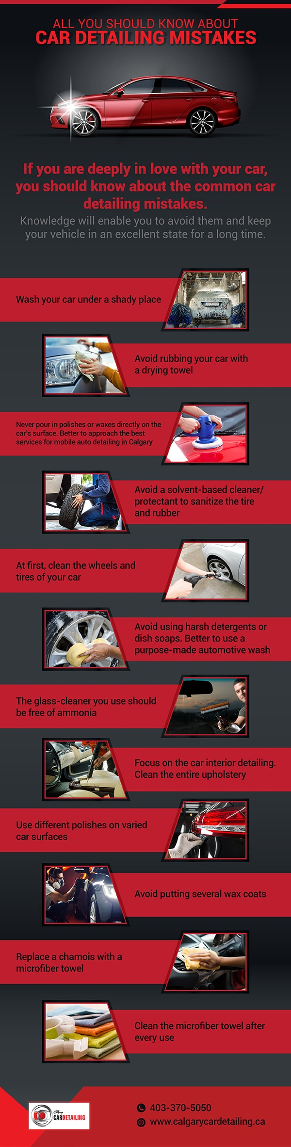 Car Detailing Mistakes